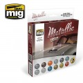 AMMO MIG 7175 ZESTAW FARB METALLIC COLORS SET-12908