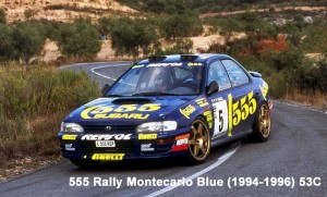 ZP1041 Subaru 555 Rally Montecarlo Blue 94-96 60ml