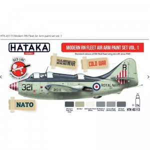 Hataka AS113 Modern RN Fleet Air Arm Paint Set Vol. 1