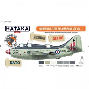 Hataka CS113 Modern RN Fleet Air Arm Paint Set Vol. 1
