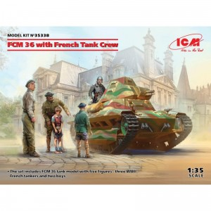 ICM 35338 FCM 36 with French Tank Crew
