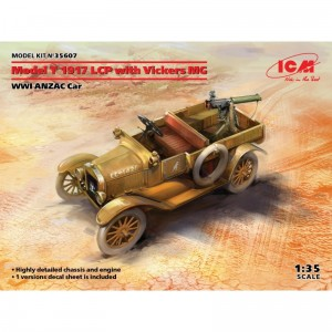 ICM 35607 Model T 1917 LCP with Vickers MG, WWI ANZAC Car