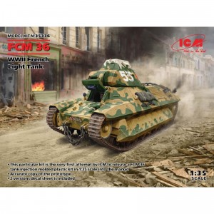 ICM 35336 FCM 36 - WWII French Light Tank