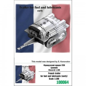 Zebrano Z100-064 French trailer for fuel and lubricants (early)