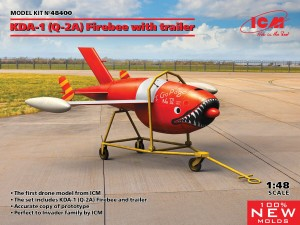 ICM 48400 Q-2A (KDA-1) Firebee with trailer (1 airplane and trailer)