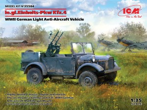 ICM 35584  le.gl.Einheitz-Pkw Kfz.4, WWII German Light Anti-Aircraft Vehicle