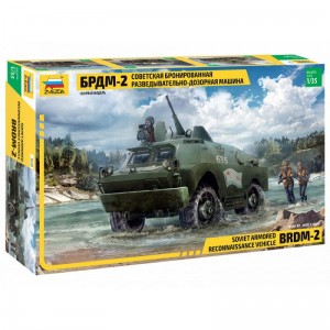 Zvezda 3638 Sovied Armored Reconnaissance Vehicle BDRM-2 1/35