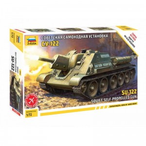 Zvezda 5043 SU-122 Soviet Self-Propelled Gun 1/72