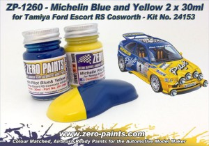 ZP1260 - Ford Escort RS Pilot Blue Yellow 2x30ml