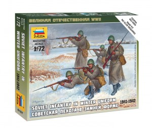 ZVEZDA 6197 1:72 SOVIET INFANTRY IN WINTER UNIFORM