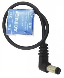 Adapter akumulatora 2S 3S 4S do DC Jack 5.5mm z filtrem