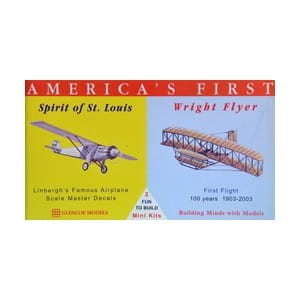 Model plastikowy - Samoloty America's First - Spirit of St Louis / Wright Flyer - Glencoe Models (2szt)