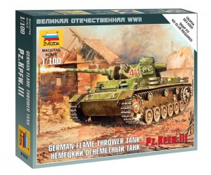 ZVEZDA 6162 1:100 PZ.KPFW III FLAME THROWER TANK