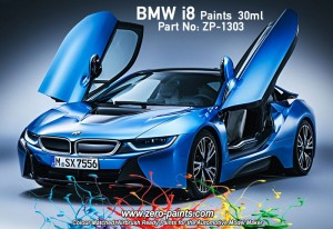 ZERO PAINTS 1303 BMW i8 Crystal White 2x30ml