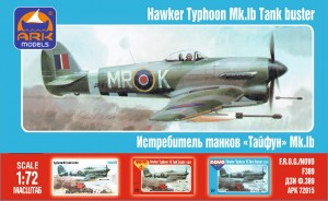 "ARK 72015 - 1/72 Hawker ""Typhoon"" Mk.IB British"
