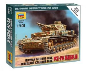 ZVEZDA 6151 1:100 GERMAN MEDIUM TANK PZ IV AUSF.D