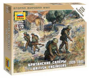 ZVEZDA 6219 1:72 BRITISH ENGINEERS