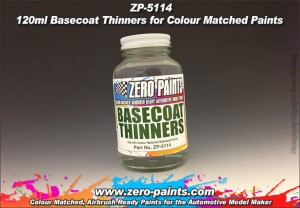 ZERO PAINTS 5114 - Basecoat Thinners 120ml