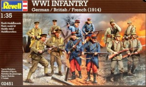 REVELL 02451 1/35 WWI German British  French 1914