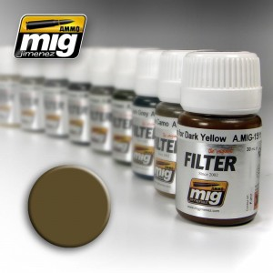 AMMO MIG 1504 FILTR BROWN FOR DESERT YELLOW