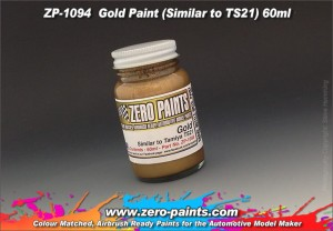 ZERO PAINTS 1094 - Farba Gold Similar to TS21 60ml