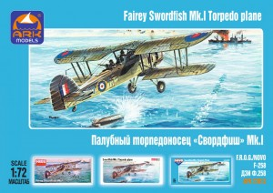 "ARK 72013 - 1/72 Fairey ""Swordfish"" Mk.I British"