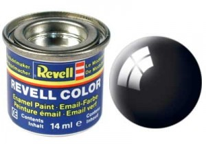 REVELL 32107 - FARBA EMAIL 07 BLACK GLOSS