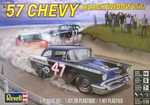 MONOGRAM 4441 - 1/25 57 CHEVY BLACK WIDOW 2in1