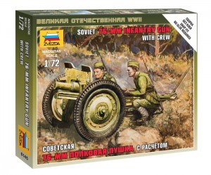 ZVEZDA 6145 1:72 SOVIET 76MM GUN WITH CREW