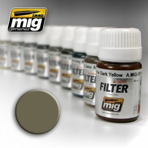 AMMO MIG 1507 FILTR TAN FOR YELLOW GREEN