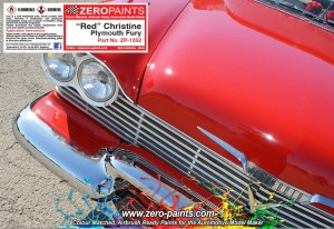 ZERO PAINTS 1364 Christine Red Plymouth Fury 60ml