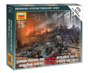 ZVEZDA 6106 1:72 GERMAN MACHINEGUN CREW MG-34