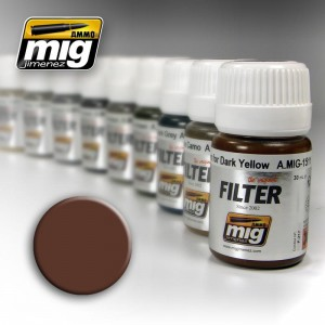 AMMO MIG 1500 FILTR BROWN FOR WHITE