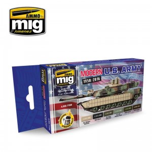 AMMO MIG 7159 ZESTAW FARB MODERN USA ARMY COLORS