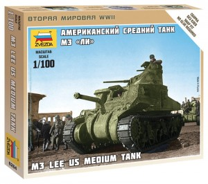 ZVEZDA 6264 1:100 M-3 LEE US MEDIUM TANK