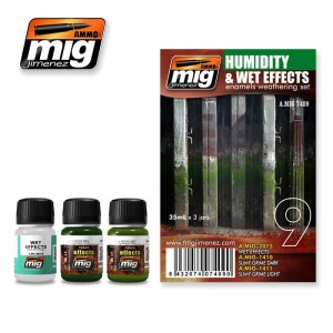AMMO MIG 7409 ZESTAW FARB HUMIDITY AND WET EFFECTS