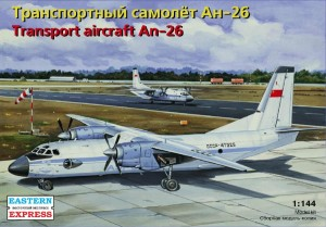 EE 14482 - 1/144 Antonov An-26 Russian transport