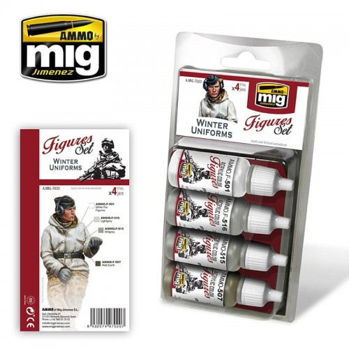 AMMO MIG 7020 ZESTAW FARB WINTER UNIFORMS-13269