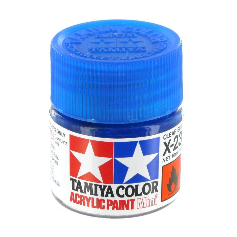 Tamiya 81523 Farba Akrylowa X 23 Clear Blue 10ml Emodele Net Sklep